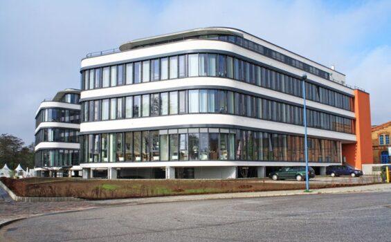 Neubau, Bürogebäude, Wissenschaftshafen, Magdeburg