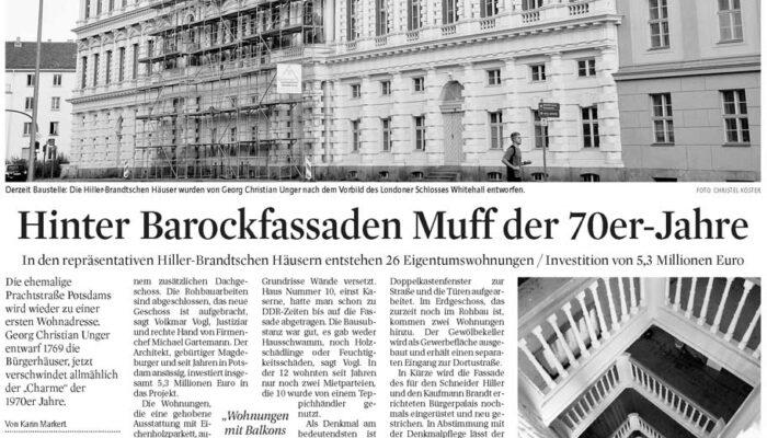 Hinter Barockfassaden Muff der 70er-Jahre